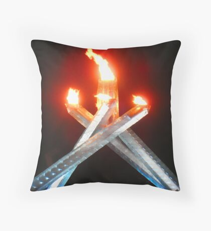 2010 Olympic Flame Throw Pillow
