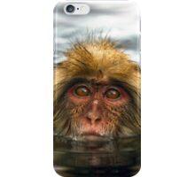 Snow Monkey in Hot Springs iPhone Case/Skin