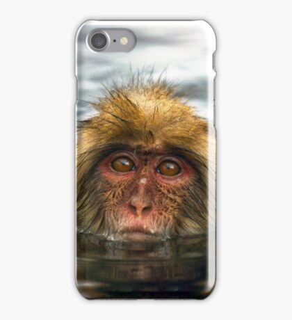Snow Monkey in Hot Springs iPhone Case/Skin