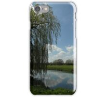 Weeping Willow Over the River iPhone Case/Skin