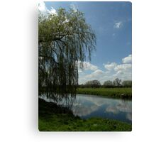 Weeping Willow Over the River Canvas Print