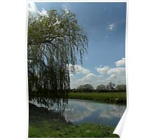 Weeping Willow Over the River Poster