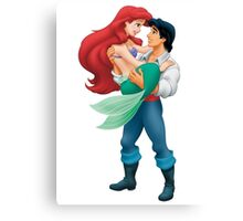 Little Mermaid and Prince Canvas Print