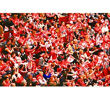 A Sea of Red - Canadian Fans at the 2010 Olympics Photographic Print
