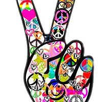 Peace Hippie Victory Fingers by RamsesXll