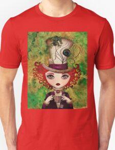 Lady Hatter T-shirt (w/background) T-Shirt