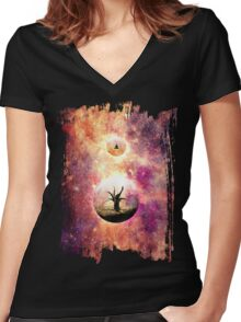 Death is the road to awe Women's Fitted V-Neck T-Shirt