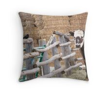 Fence Gossip Throw Pillow