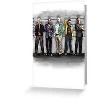 Breaking Bad/ The Usual Suspects (colour) Greeting Card