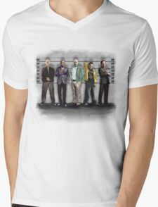 Breaking Bad/ The Usual Suspects (colour) Mens V-Neck T-Shirt