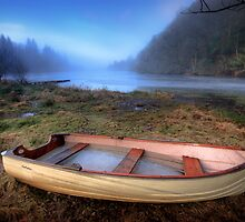 Loch Ard Dinghy colour by David Mould