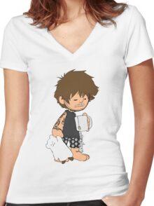 Sleepy Louis Women's Fitted V-Neck T-Shirt