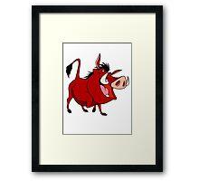 Pumba Framed Print