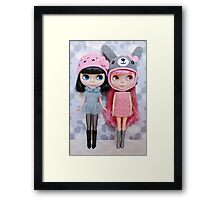 Pink and grey Framed Print