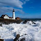 After the Storm - Portland Headlight by Sarah Beard Buckley
