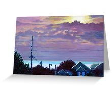 'Sunset over Pamlico Sound' Greeting Card