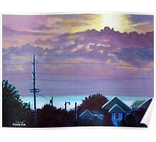 'Sunset over Pamlico Sound' Poster