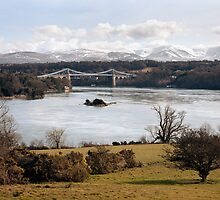 The Menai Bridge & Strait by SteveMG