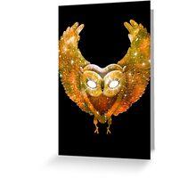 Cosmic Owl Greeting Card