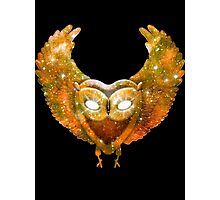 Cosmic Owl Photographic Print