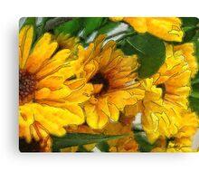 Yellow Chrysanthemums 1 Canvas Print