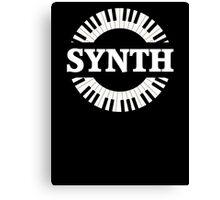 Synth Keyboard Canvas Print