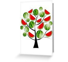 Watermelon Tree Greeting Card