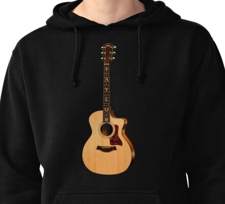 Wonderful Taylor Acoustic Guitar  Pullover Hoodie