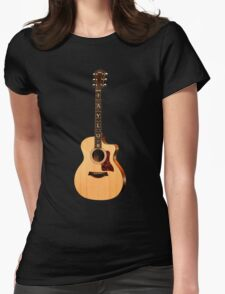 Wonderful Taylor Acoustic Guitar  Womens Fitted T-Shirt