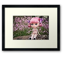 Summer Blythe in the garden - landscape version Framed Print