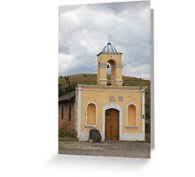 Small Church in La Calera Greeting Card