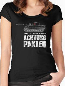 ACHTUNG PANZER - TIGER TANK Women's Fitted Scoop T-Shirt