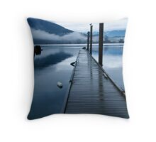 Harrison River Dock Throw Pillow