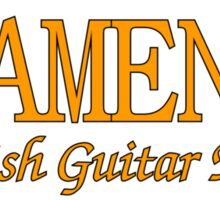Flamenco Spanish Guitar Music Sticker