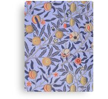 Vintage Tropical Floral Pattern Canvas Print