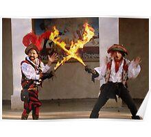 Flaming Swords Poster