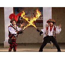 Flaming Swords Photographic Print