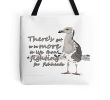 Fighting for fishheads Tote Bag