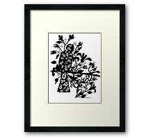 queen black bird  Framed Print