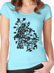 queen black bird  Women's Fitted Scoop T-Shirt