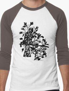 queen black bird  Men's Baseball ¾ T-Shirt