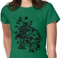 queen black bird  Womens Fitted T-Shirt