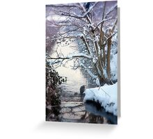 Heron Winter Scene Greeting Card