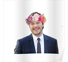 Chris Pratt with a flower crown Poster