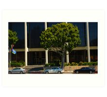 cars in a row, downtown hollywood, Art Print