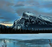 Morning @ Mt. Rundle by Bob Webb