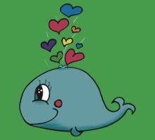 cute whale One Piece - Short Sleeve