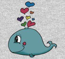 cute whale Kids Tee