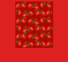 Strawberries and More Strawberries Womens Fitted T-Shirt