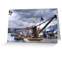 Camogli  crane Greeting Card
